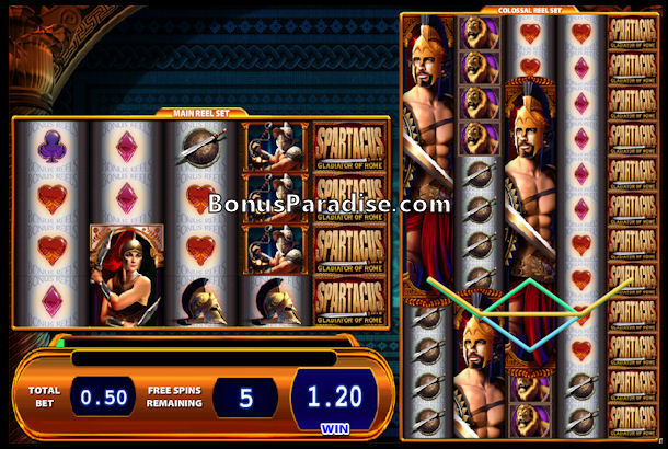 Spartacus Gladiator of Rome - Gratis WMS Colossal Reels Slot