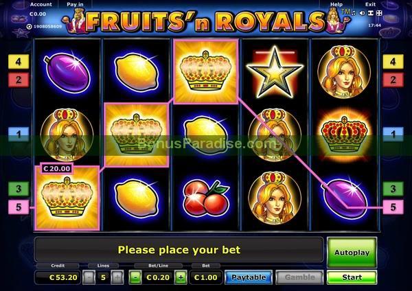 online slots bonus royals online