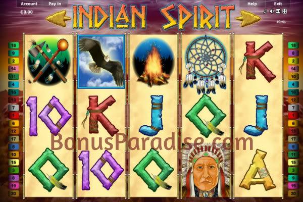 gambling casino online bonus indian spirit